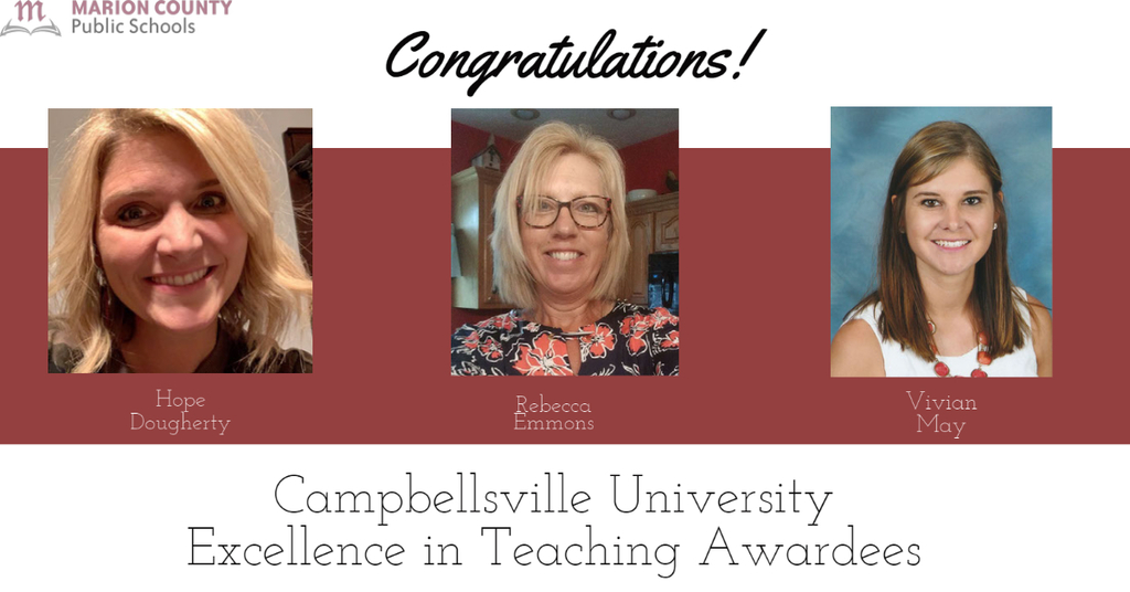 Campbellsville University Excellence in Teaching Awardees